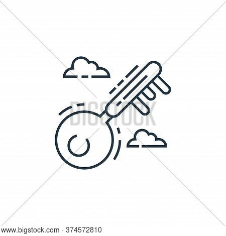key icon isolated on white background from environment and eco collection. key icon trendy and moder