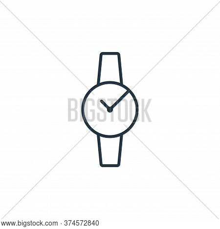 watch icon isolated on white background from clothes and outfit collection. watch icon trendy and mo