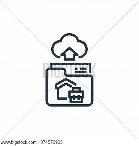 file upload icon isolated on white background from working from home collection. file upload icon tr