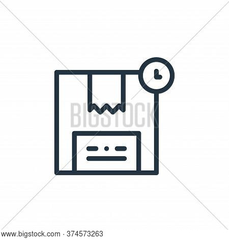 box icon isolated on white background from online shopping collection. box icon trendy and modern bo