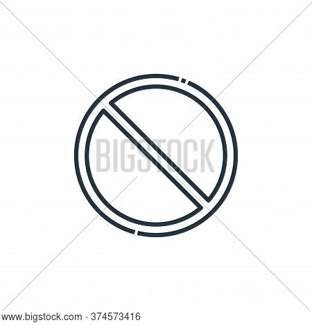 no waiting icon isolated on white background from signaling collection. no waiting icon trendy and m