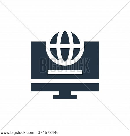 internet icon isolated on white background from advertisement collection. internet icon trendy and m
