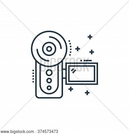 camcorder icon isolated on white background from technology devices collection. camcorder icon trend