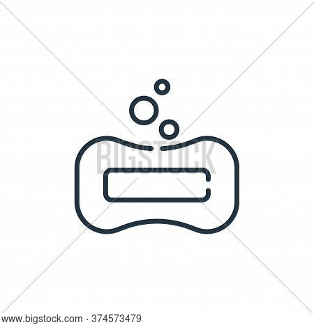 soap icon isolated on white background from bathroom collection. soap icon trendy and modern soap sy
