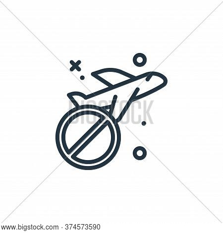 airplane icon isolated on white background from virus restrictions collection. airplane icon trendy