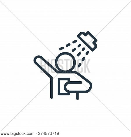 shower icon isolated on white background from health and protection collection. shower icon trendy a