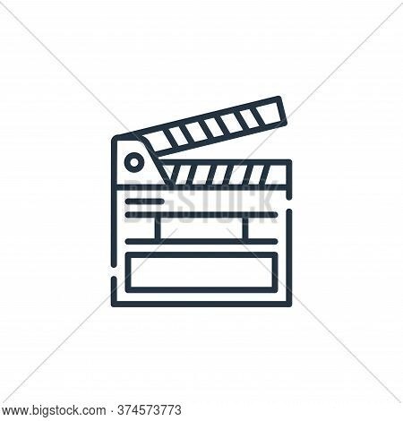 clapperboard icon isolated on white background from fame collection. clapperboard icon trendy and mo