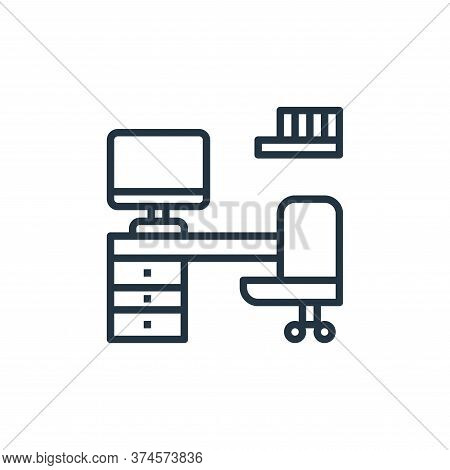 work space icon isolated on white background from work from home collection. work space icon trendy