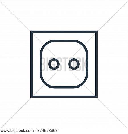 electric socket icon isolated on white background from hardware collection. electric socket icon tre
