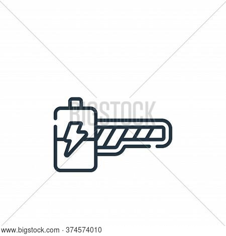 energy bar icon isolated on white background from videogame collection. energy bar icon trendy and m