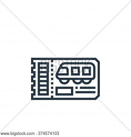 train ticket icon isolated on white background from railway collection. train ticket icon trendy and