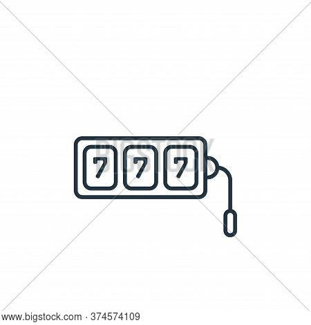 slot machine icon isolated on white background from casino collection. slot machine icon trendy and