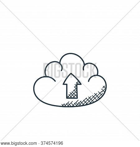 cloud uploading icon isolated on white background from technology collection. cloud uploading icon t