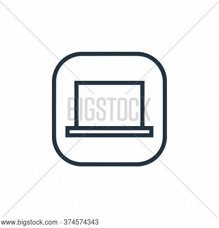 laptop icon isolated on white background from hardware and gadgets collection. laptop icon trendy an