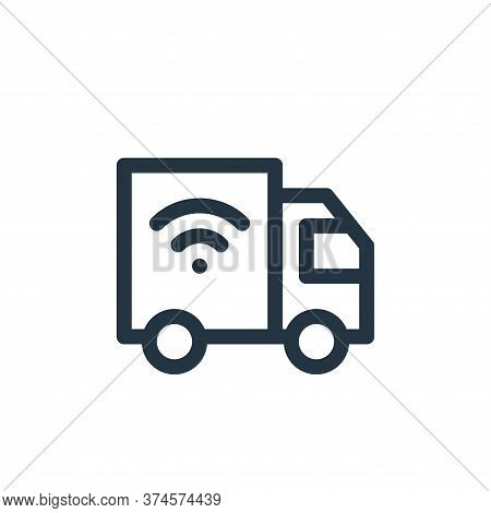 delivery truck icon isolated on white background from internet of things collection. delivery truck