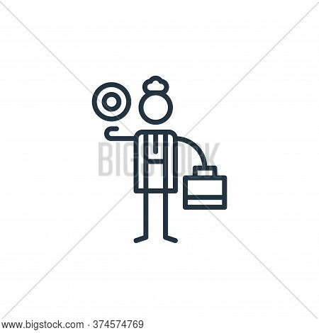 economics icon isolated on white background from general arts collection. economics icon trendy and