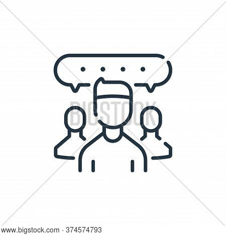 chat group icon isolated on white background from social media collection. chat group icon trendy an