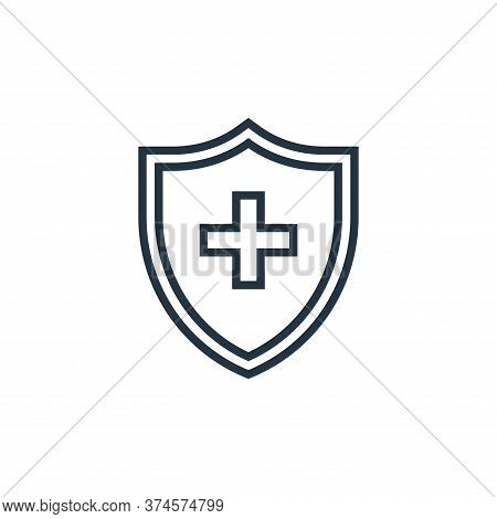 cross shield icon isolated on white background from pandemic novel virus collection. cross shield ic