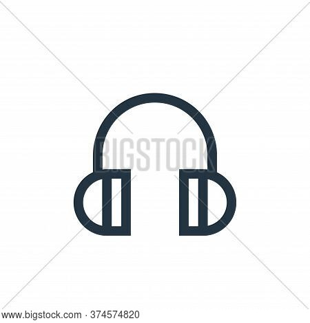 headphone icon isolated on white background from web essentials collection. headphone icon trendy an