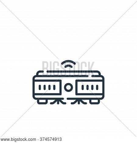 robot vacuum icon isolated on white background from cleaning collection. robot vacuum icon trendy an