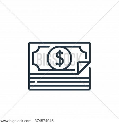money icon isolated on white background from fame collection. money icon trendy and modern money sym