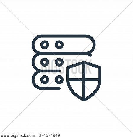 protection icon isolated on white background from work office server collection. protection icon tre