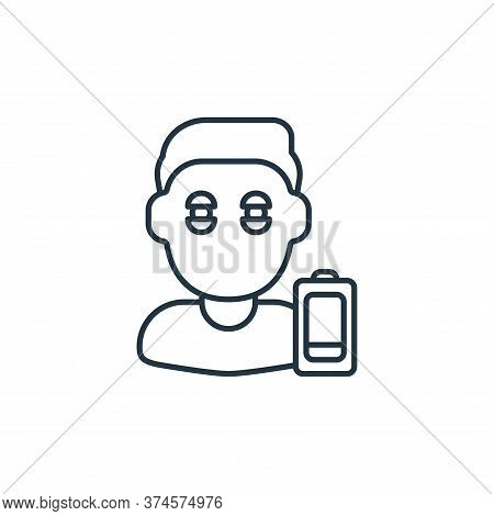 tiredness icon isolated on white background from coronavirus collection. tiredness icon trendy and m