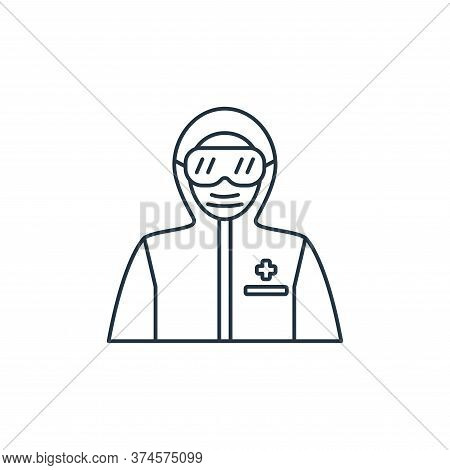 protective wear icon isolated on white background from coronavirus covid collection. protective wear