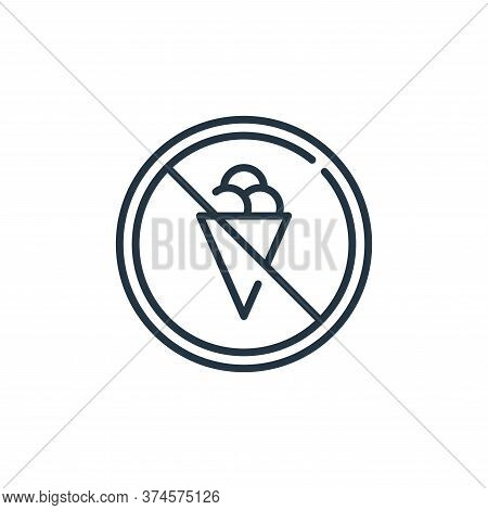 no ice cream icon isolated on white background from mall collection. no ice cream icon trendy and mo