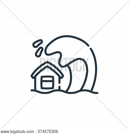 tsunami icon isolated on white background from climate change collection. tsunami icon trendy and mo