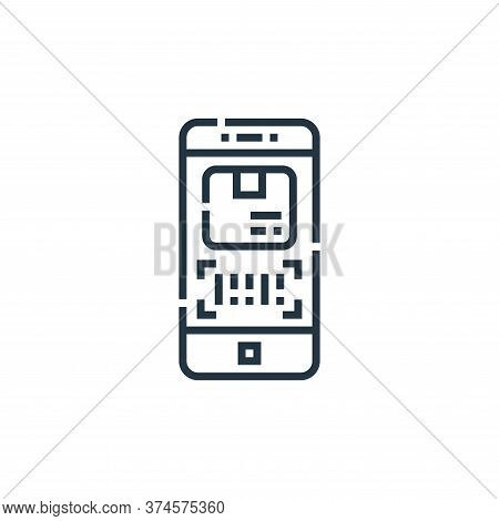 tracking app icon isolated on white background from delivery collection. tracking app icon trendy an