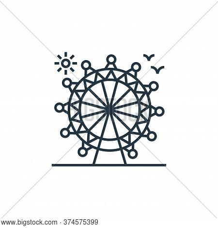 ferris wheel icon isolated on white background from tourism collection. ferris wheel icon trendy and