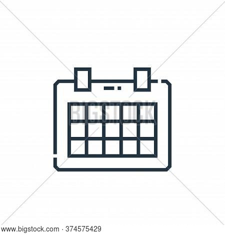 schedule icon isolated on white background from marketing collection. schedule icon trendy and moder