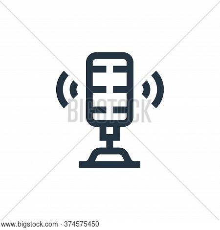 microphone icon isolated on white background from news collection. microphone icon trendy and modern