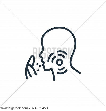 cough icon isolated on white background from covid collection. cough icon trendy and modern cough sy