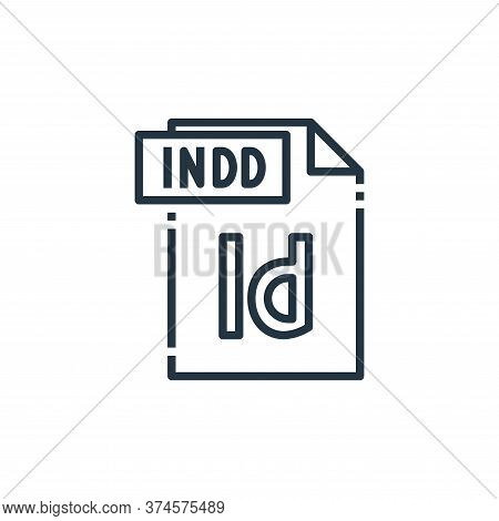 indd file icon isolated on white background from file type collection. indd file icon trendy and mod