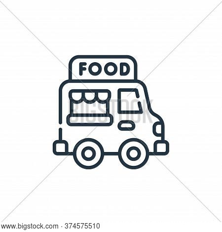 food truck icon isolated on white background from circus collection. food truck icon trendy and mode