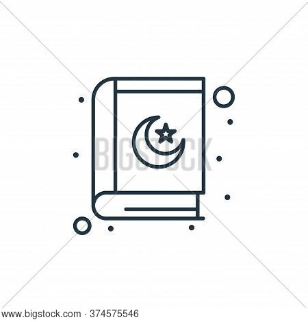 Quran icon isolated on white background from islam and ramadan collection. Quran icon trendy and mod