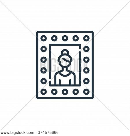 mirror icon isolated on white background from fame collection. mirror icon trendy and modern mirror