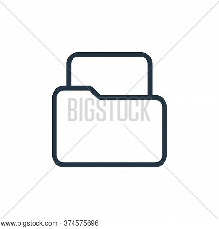 file icon isolated on white background from work office supply collection. file icon trendy and mode