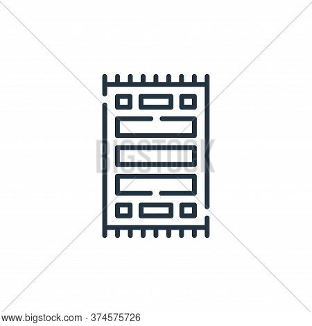 carpet icon isolated on white background from desert collection. carpet icon trendy and modern carpe