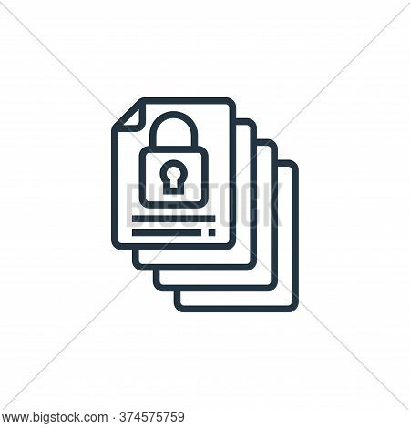archive icon isolated on white background from confidential information collection. archive icon tre