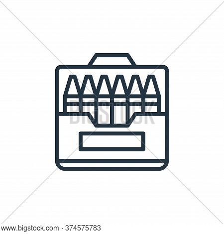 pencil crayons icon isolated on white background from education collection. pencil crayons icon tren