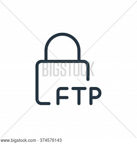 lock icon isolated on white background from data transfer collection. lock icon trendy and modern lo