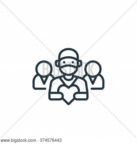team icon isolated on white background from kindness collection. team icon trendy and modern team sy