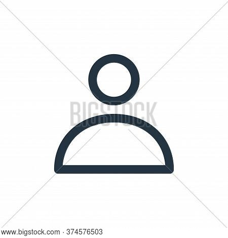 user icon isolated on white background from user interface collection. user icon trendy and modern u