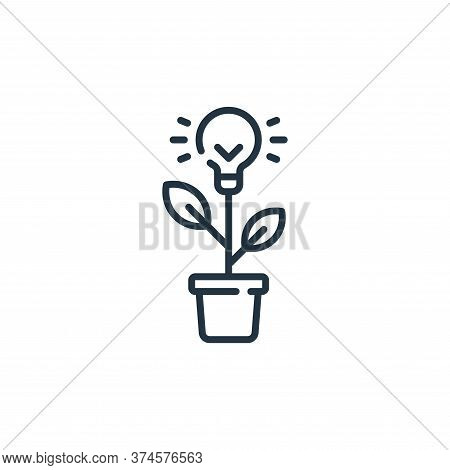 light bulb icon isolated on white background from life skills collection. light bulb icon trendy and