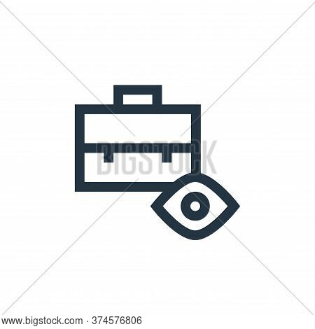 briefcase icon isolated on white background from job resume collection. briefcase icon trendy and mo