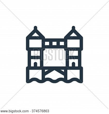 Tower bridge icon isolated on white background from england collection. Tower bridge icon trendy and