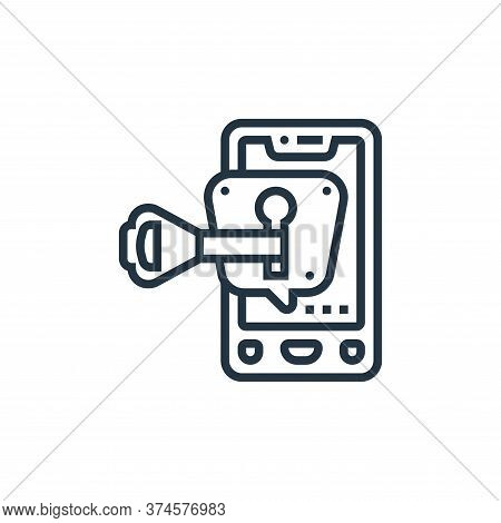 secret message icon isolated on white background from confidential information collection. secret me